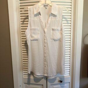 White Sleeveless Portofino Shirt